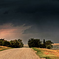 Panoramic Lightning Storm In The Prairie by Mark Duffy