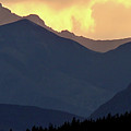 Panoramic Rocky Mountain View At Sunset by Mark Duffy