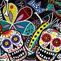 Pareja Dia De Los Muertos by Pristine Cartera Turkus