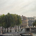 Paris Across The Seine by Victoria Heryet