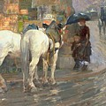 Paris Street Scene by Childe Hassam