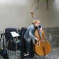 Parisian Street Musician by Susan  Lipschutz