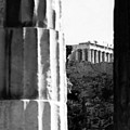 Parthenon From The Temple Of Hephaistos Athens by Susan Chandler