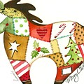 Patchwork Christmas Horse by Stormy Logan
