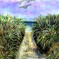 Pathway To The Shore by Dina Sierra