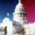 Patriotic Texas Capitol by Marilyn Hunt
