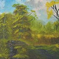 Peaceful Land 12x24 By Artist Bryan Perry by Bryan Perry