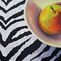 Pear On Zebra by Marina Petro