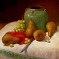 Pears And Grapes by Donelli  DiMaria