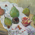 Pears Figs And Young Pomegranates by Juliya Zhukova