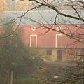 Pennsylvania German Barn In The Mist by Jay Ressler