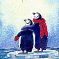 Penquins An Christmas Star by Peggy Wilson