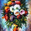 Peonies by Leonid Afremov