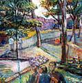 People In Landscape by Stan Esson