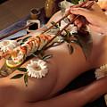 Person Eating Nyotaimori Body Sushi by Oleksiy Maksymenko