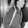 Pete Seeger B. 1919 Arrives At Federal by Everett