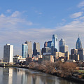 Philadelphia From The South Street Bridge by Bill Cannon