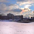 Philadelphia Museum Of Art At Winter Sunrise by Bill Cannon