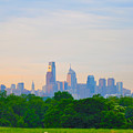 Philadelphia Skyline From West Lawn Of Fairmount Park by Bill Cannon