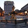 Piazza At Night by Munir Alawi