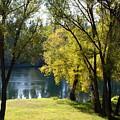 Picnic Spot On Spokane River by Ben Upham III