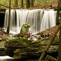 Pillar And Waterfall by Douglas Barnett