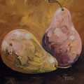 Pink And Yellow Pears by Torrie Smiley