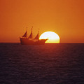 Pirateship Sunset by Brent Easley