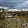 Pisuerga River by Angel Jesus De la Fuente