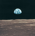 Planet Earth Viewed From The Moon by Stockbyte