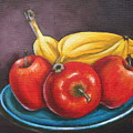 Platter Of Fruit by Ruth Bares
