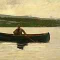 Playing A Fish by Winslow Homer