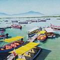 Pleasure Boats On Lake Chapala by Constance Drescher