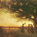 Pleasures Of The Evening by Jean Baptiste Camille Corot