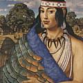 Pocahontas Wears A Turkey-feather Robe by W. Langdon Kihn