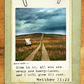 Polaroid On Weathered Wood With Bible Verse by Jill Battaglia