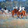 Polo Horses Painting by Abid Khan