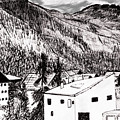 Pontresina Black And White by Monica Engeler