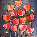 Poppies Are Hearts Of Love We Can Give Away by Laurie Maves ART