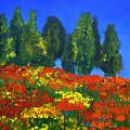 Poppies Landscape by Mary Jo Zorad