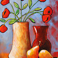 Poppies N Pears by Toni Grote