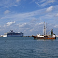 Port Canaveral In Florida Usa by Allan  Hughes