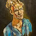 Portrait By Victor Herman 1968 by Joni Herman