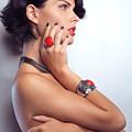 Portrait Of A Beautiful Woman Wearing Jewellery by Oleksiy Maksymenko