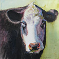 Portrait Of A Cow by Terri  Meyer