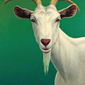Portrait Of A Goat by James W Johnson