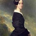 Portrait Of Francisca Caroline De Braganca by Franz Xaver Winterhalter
