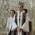 Portrait Of Queen Farah Pahlavi Dressed by James L Stanfield