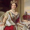 Portrait Of Queen Victoria by Franz Xavier Winterhalter