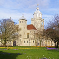 Portsmouth Cathedral At Springtime by Terri Waters